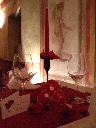 Accademia caffe: Cena romantica