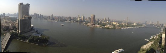Four Seasons Hotel Cairo at Nile Plaza: view from the top