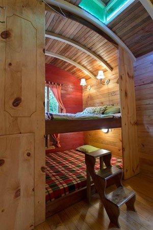 Hosteria La Roulotte: Inside our cabin at la Roulotte