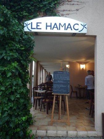 Le Hamac : terrasse abrité