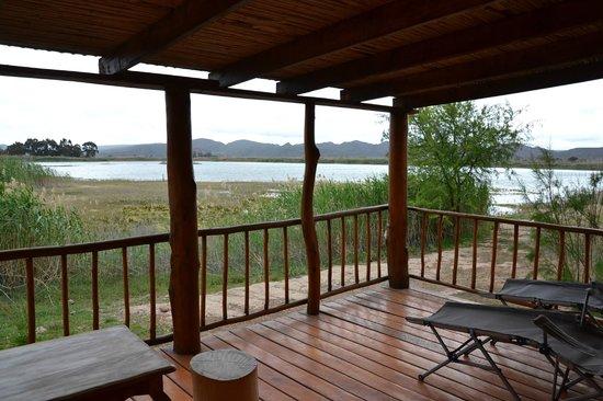 De Zeekoe Guest Farm: The deck of our cabin