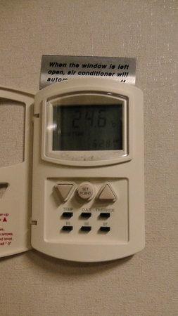 Levni Hotel & Spa : 客室エアコンの使い方 分らない書き込み多いので載せます。 B6、SET,三角スイッチ温度調節で、快適に過ごせました。