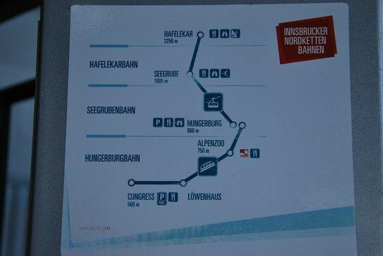 Ibis Innsbruck: Route of Hafelekar peak .