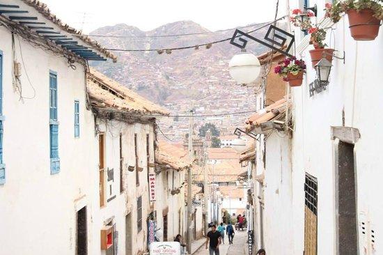B&B-Hotel Pension Alemana: Vista desde San Blas, bajando hacia el centro.