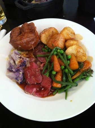 Roast beef at The Print Room, Bournemouth