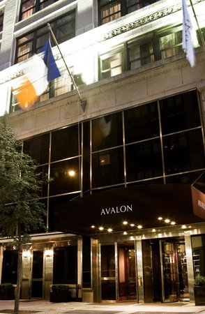 Avalon Hotel: Hotel Entrance at night