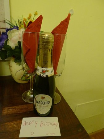 Surprise birthday treat from Hotel Berna