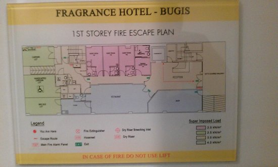 Fragrance Hotel - Bugis: First Floor Layout