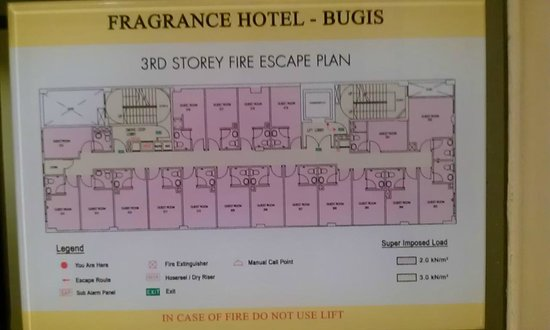 Fragrance Hotel - Bugis: Third Floor Layout