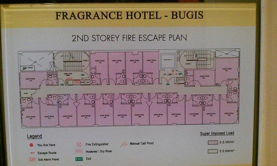 Fragrance Hotel - Bugis: Second Floor Layout