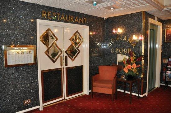 Montana Hotel: L'entrée du restaurant