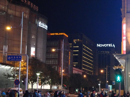 Novotel Beijing Peace : Novotel Peace Hotel, Beijing at night