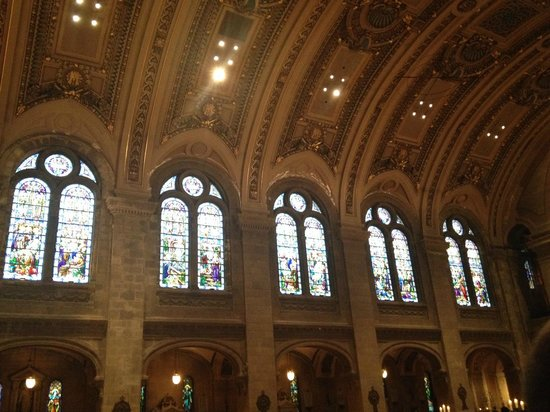 Basilica of St. Mary: Picture doesn't do it justice.  Beautiful stain glass
