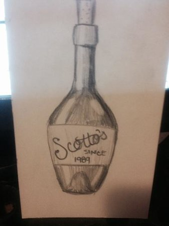 Scotto's Italian Restaurant : our wine menu , great and inexpensive