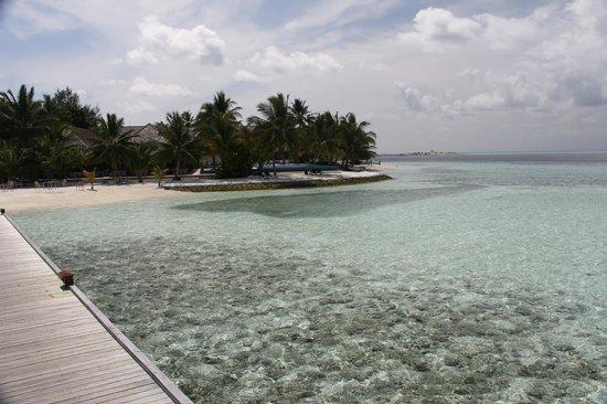 Vilamendhoo Island Resort & Spa: Clear waters