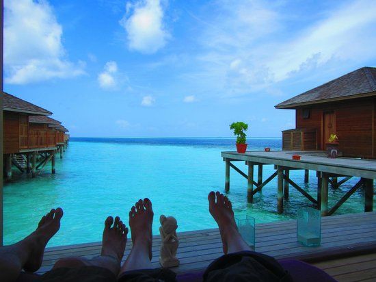 Vilamendhoo Island Resort & Spa: View from the spa (the spa is rather atrocious though)