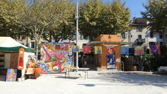 Ville medieval : 中心広場