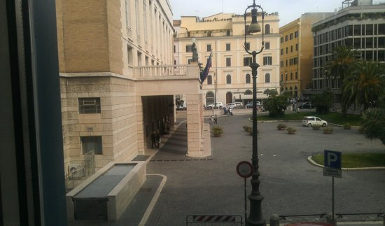 iQ Hotel Roma: Room View Overlooks Opera - Note Second Window for Tuba Practice (hours and hours of scales)