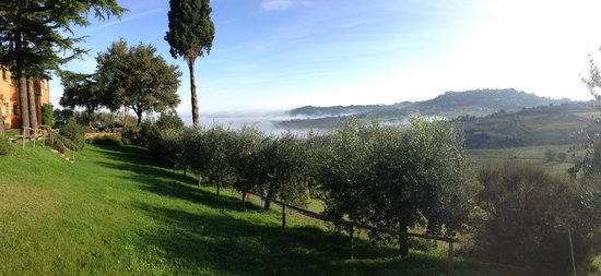 Agriturismo Villa Mazzi: The spectacular view of Montepulciano from Villa Mazzi