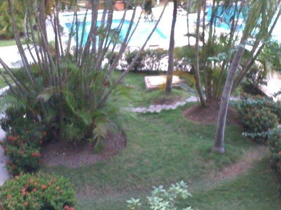 Marbellamar Hotel & Resort: vista a la piscina desde la habitación