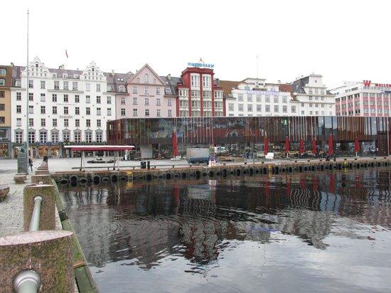 Scandic Strand on left (white building)