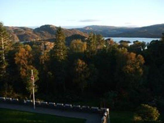 Glenborrodale Castle: View of loch from castle
