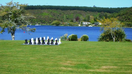 VR Rotorua Lake Resort: The view from our room