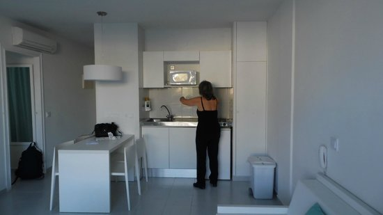Marina Playa Apartments : kitchenette