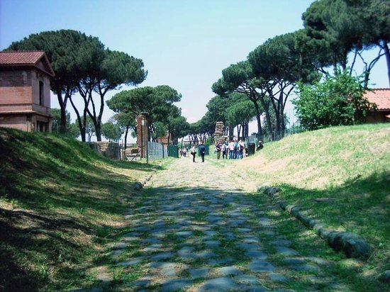 Parco Regionale dell'Appia Antica: the stones and trees along the appian way