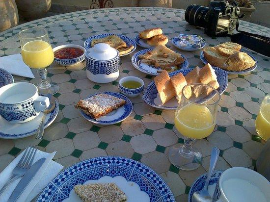 Ryad Alya : Prima colazione in terrazza