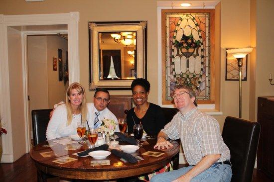 The Brick Restaurant & Tavern: Diane,myself, Michelle and Tim