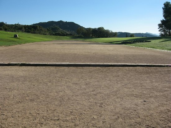 Ancient Olympia: the running track
