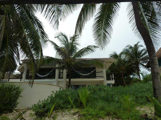 Las Ranitas Eco-boutique Hotel: vista de la habitacion desde la playa