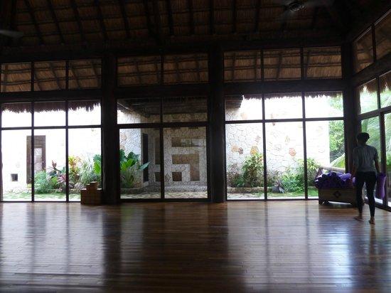 Las Ranitas Eco-boutique Hotel: sala para practicas yoga y meditacion