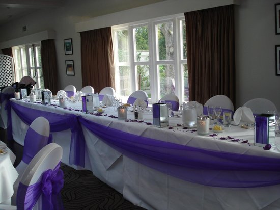 Prested Hall Hotel Wedding Top Table