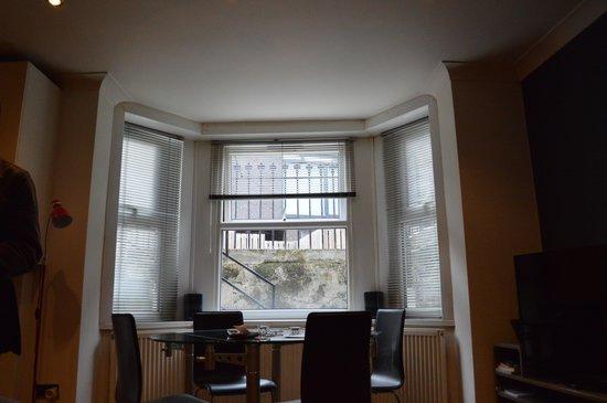 Window outlooking the street