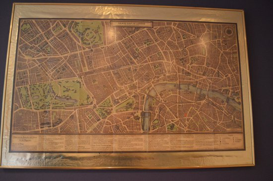 Updated Map of London on Wall