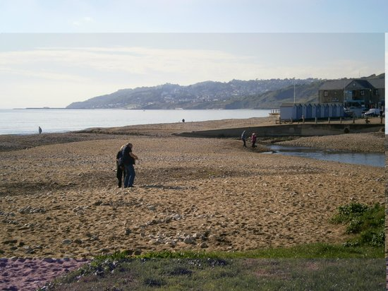 Charmouth Heritage Coast Centre: Beach by the Heritage Centre