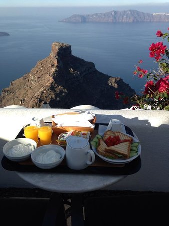 Vallais Villa: View from our patio, breakfast served daily to room
