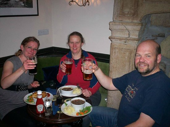Talbot Arms: Other great meal - Yorkshire Game Casserole & Steak & Ale Pie with a great Pint!