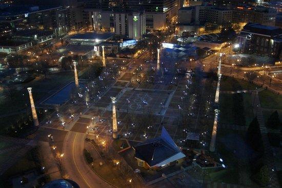 Omni Atlanta Hotel at CNN Center: Night view from king corner
