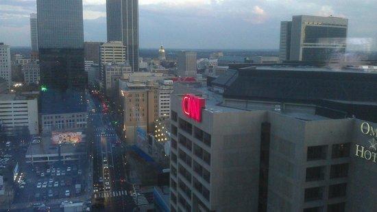 Omni Atlanta Hotel at CNN Center: Morning view from king corner