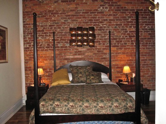 The 1857: second bedroom queen bed wonderful linens and mattress tv