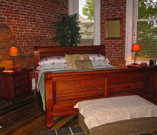 The 1857: king bed wonderful linens and mattress tv