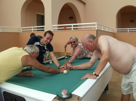 Rosamar Aparthotel : Killer pool game Andreia rep  was great fun