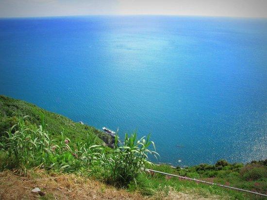 Locanda Valeria: the view from the cliff valeria sits upon