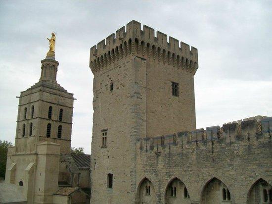 Cathédrale Notre-Dame-des-Doms : in lontananza il campanile della Cattedrale