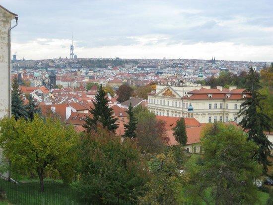 Kamil & Pavlina Prague Guide - Private Tours: View from incline road (Uvoz / Neurodova) walk to Strahov monastery