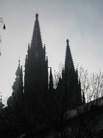 Kamil & Pavlina Prague Guide - Private Tours: AM fog view of St. Vitus cathedral