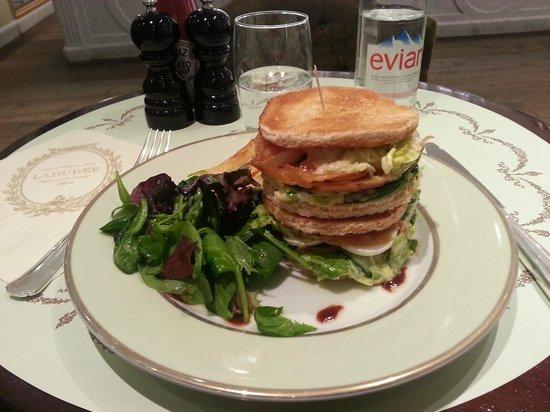 club sandwich saumon ladur e picture of laduree paris tripadvisor. Black Bedroom Furniture Sets. Home Design Ideas